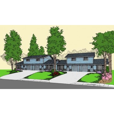 Quadraplex house plans find house plans for Quadruplex floor plans