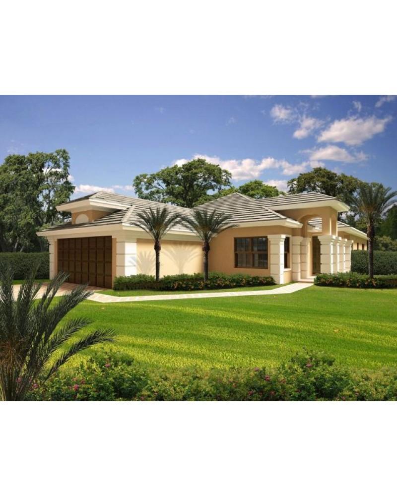Spanish Mediterranean House Plans: AmazingPlans.com House Plan #AR2087-9803