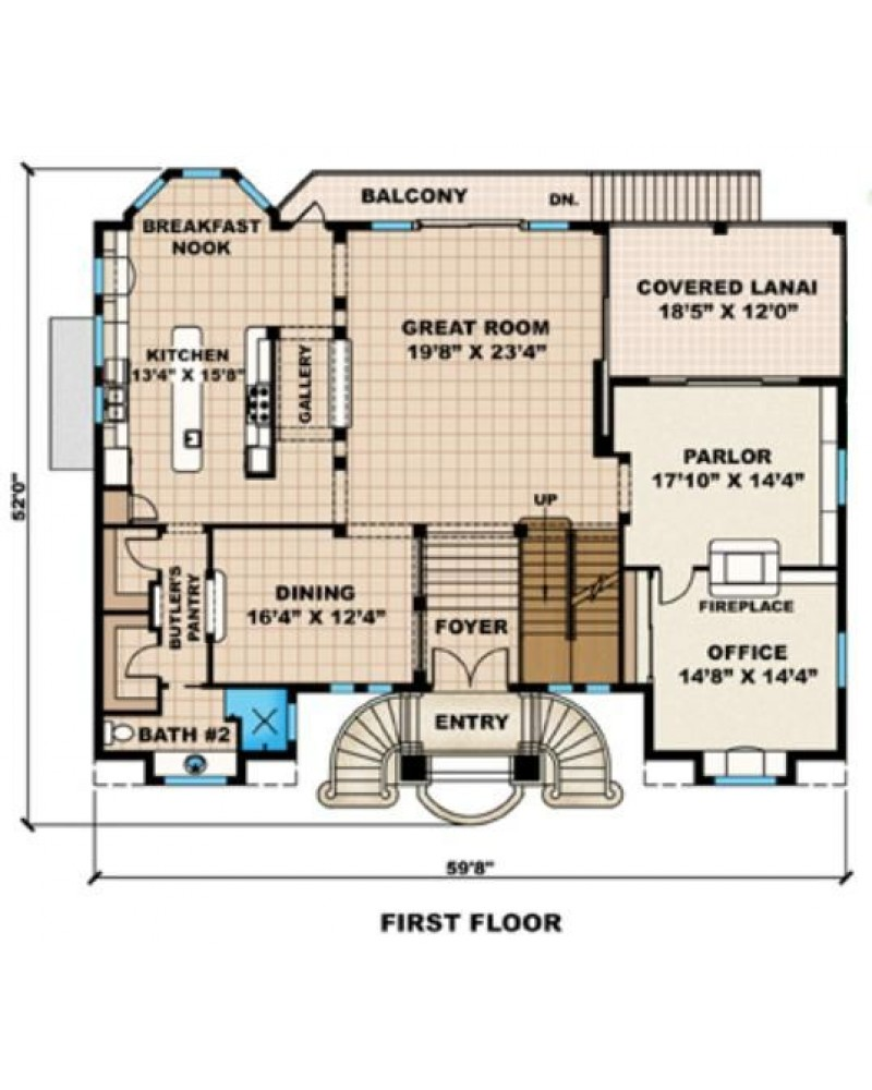 Narrow Key West Style House Plans - Key west style home designs