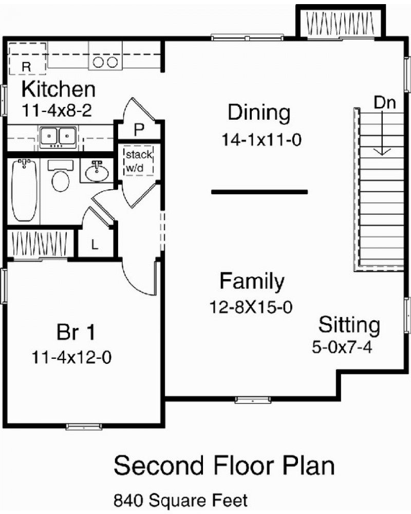 Garage plan rds9730 garage apartment for Converting a garage into an apartment floor plans