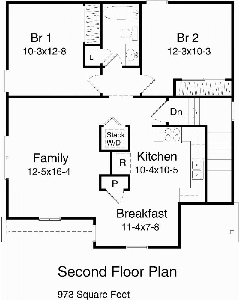 Garage plan rds9919 garage apartment for Apartment floor plan