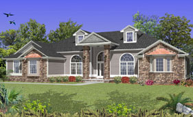Traditional Style House Plan H3257A