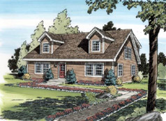 Cape Cod Style House Plan