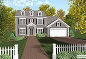 colonial house plans - House Building Plans