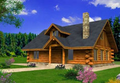 Cabin House Plan ghd 1082