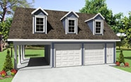 Garage Plans Designs   Garage Apartment Plans   Garage Building PlansGarage Building Plan HPG
