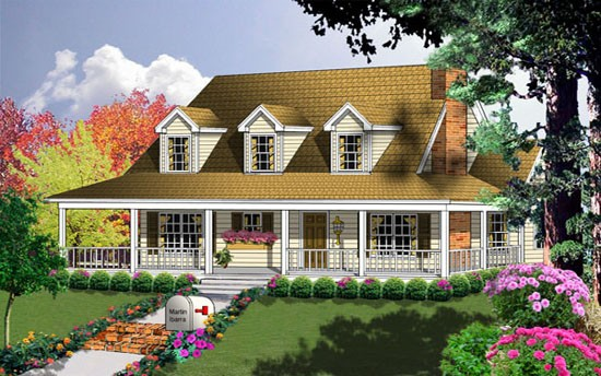 Farmhouse Style House Plan