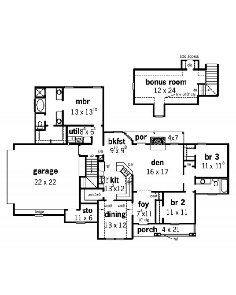 House Plan Rg1625 Cape Cod New