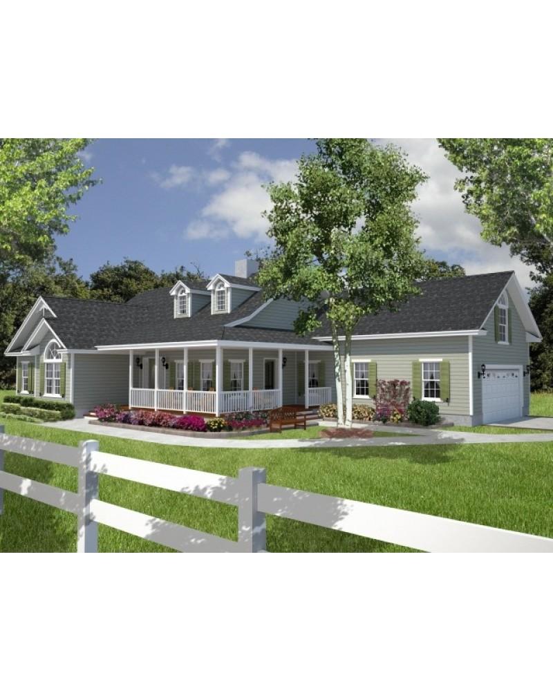 Amazingplans house plan 1885c slm country house plan for Country house plan with wrap around porch