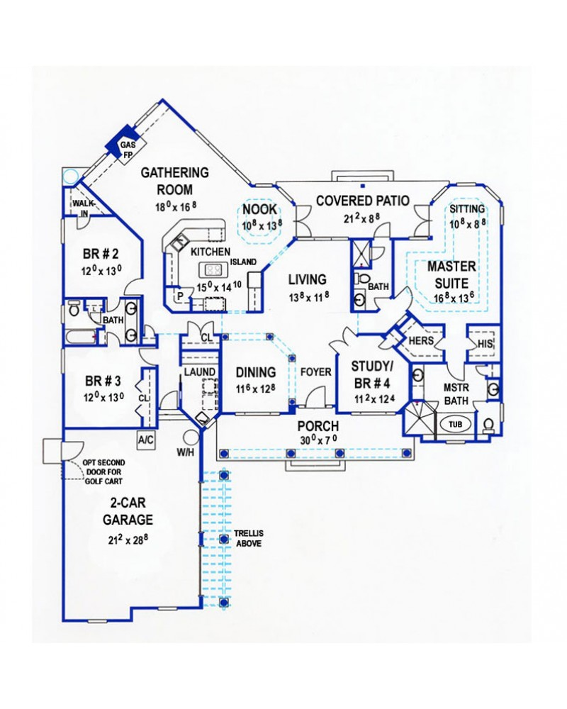 AmazingPlans.com House Plan H2654A - Craftsman Style Country ... on