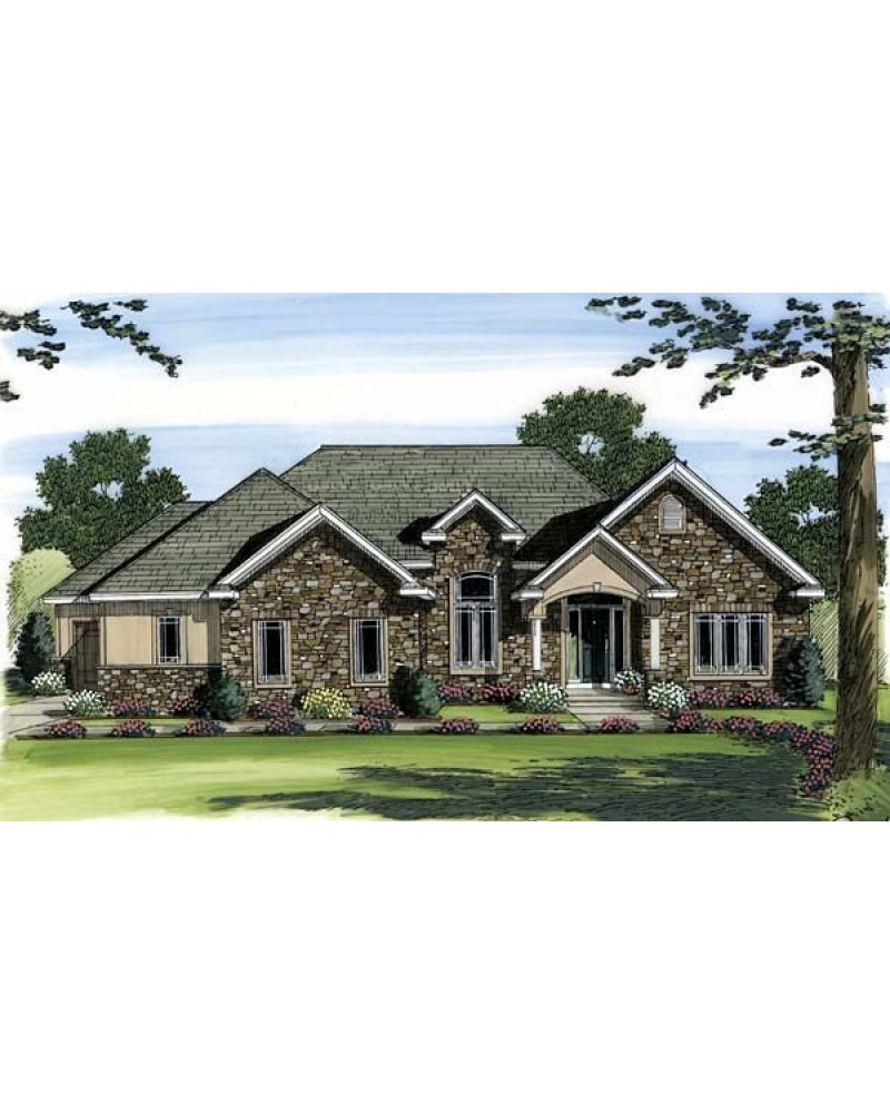 House plan 44045 european french for French tudor house plans