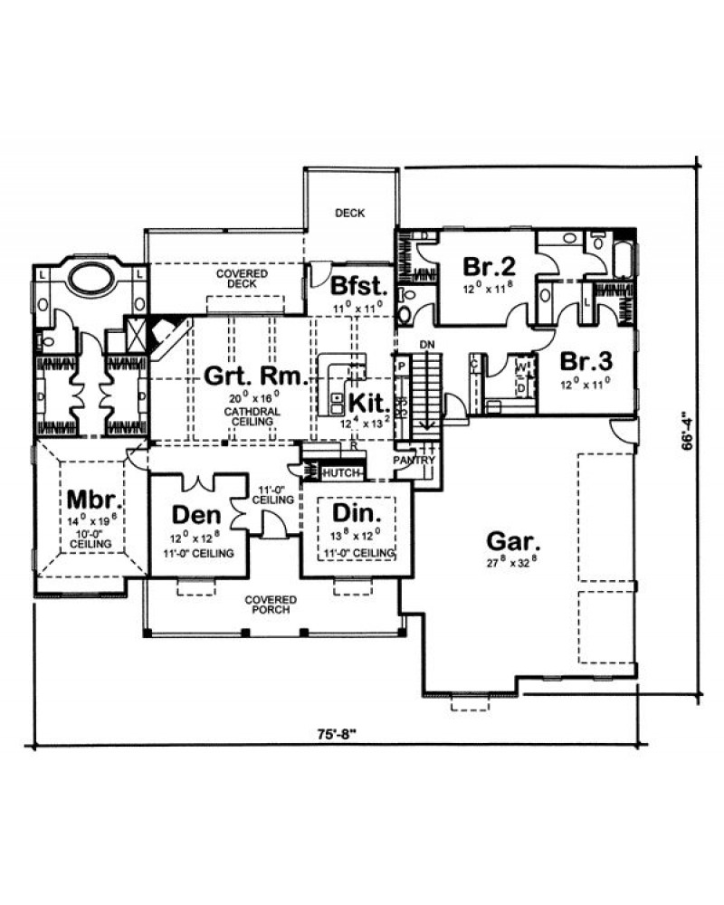 House Plan 44061 Cape Cod New