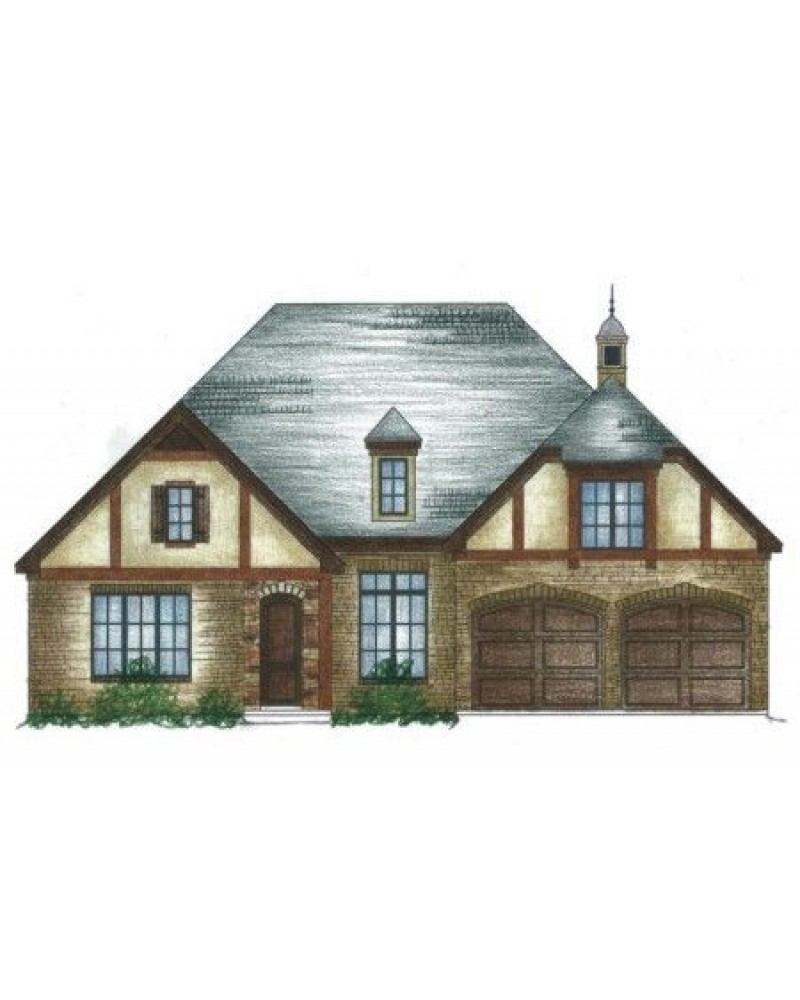 House plan 93008 18 european french for French tudor