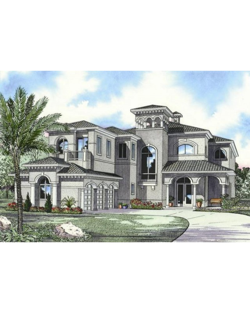 Contemporary Mediterranean Luxury Interior Designs: AmazingPlans.com House Plan #AR5872-0266
