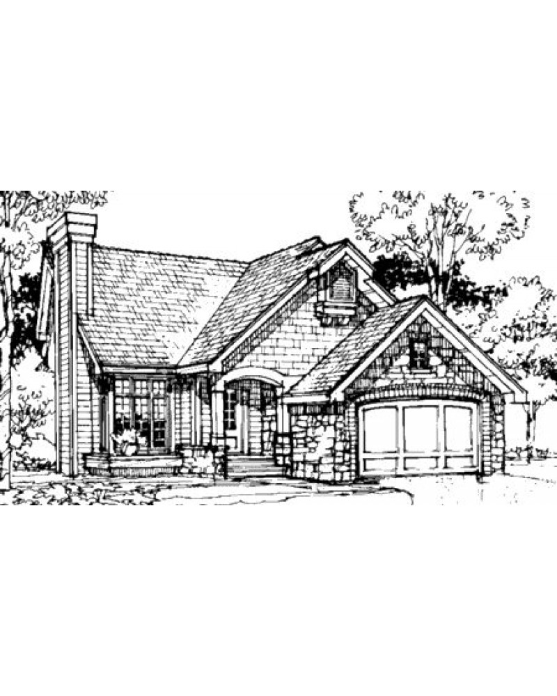 House plan b 87157 country european for French tudor house plans