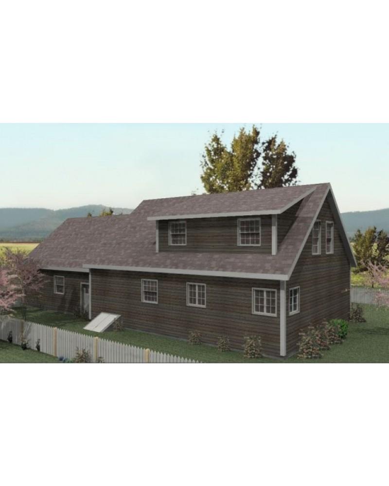House Plan Btd106 Cabin Cape Cod