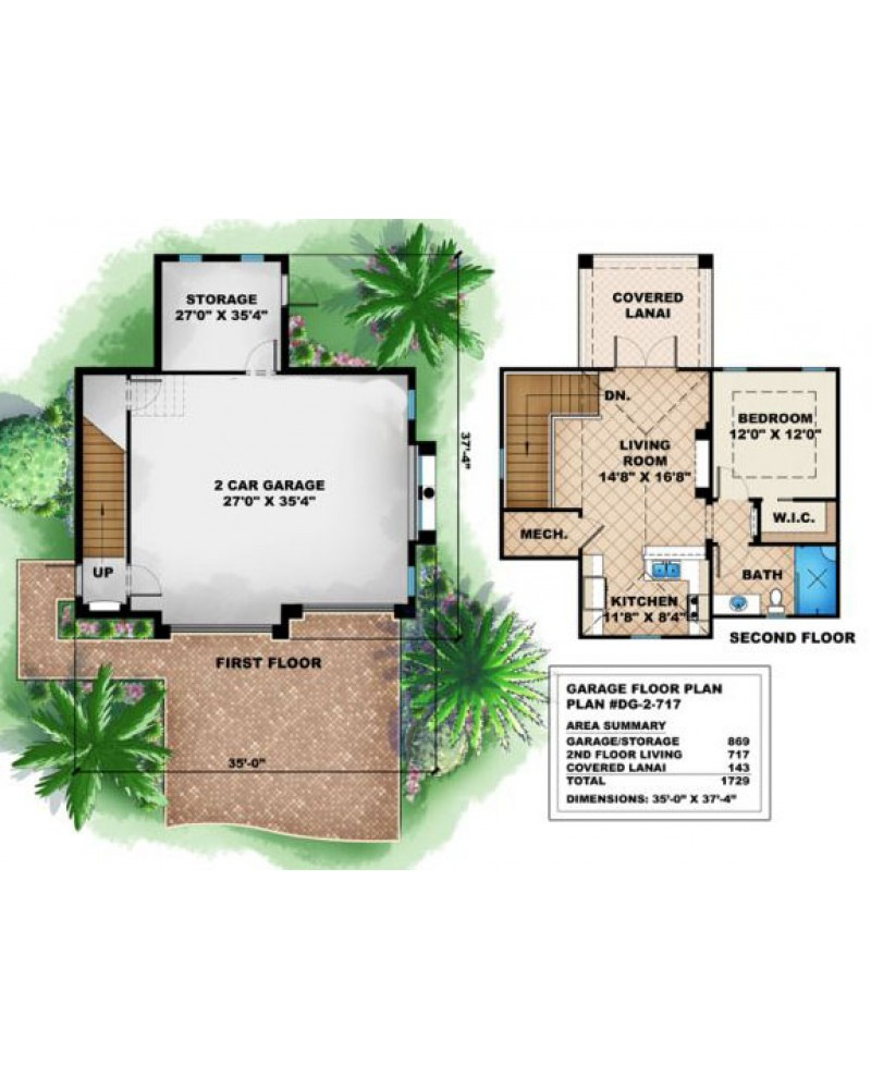 Amazingplans Com Garage Plan Dg 2 717 Garage Apartment