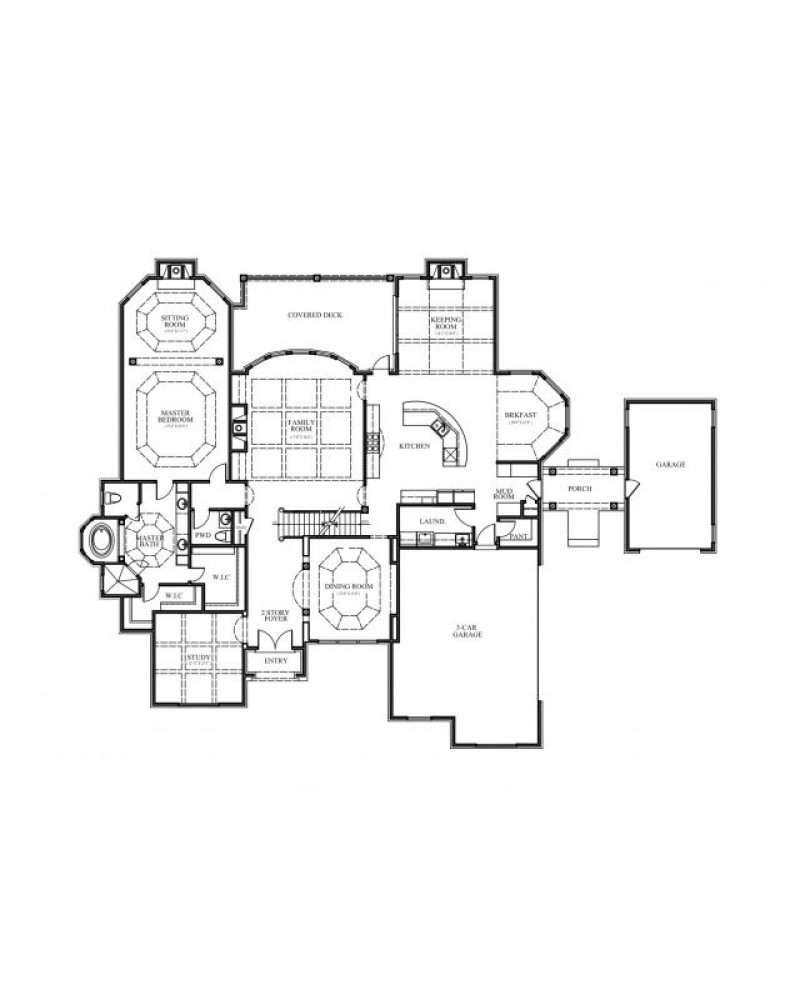 House Plan Dul Chateau Gabriel Country