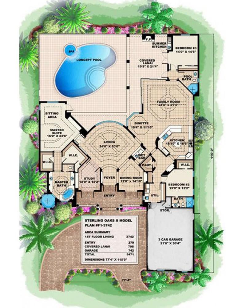 Sterling Oaks Apartments: AmazingPlans.com House Plan #F1-3742 Sterling Oaks II