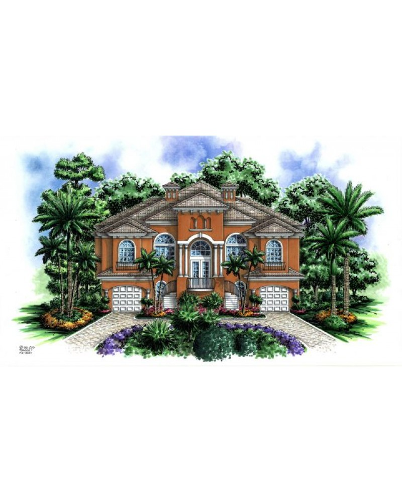 House Plan F2 3351 Dos Palmas Beach