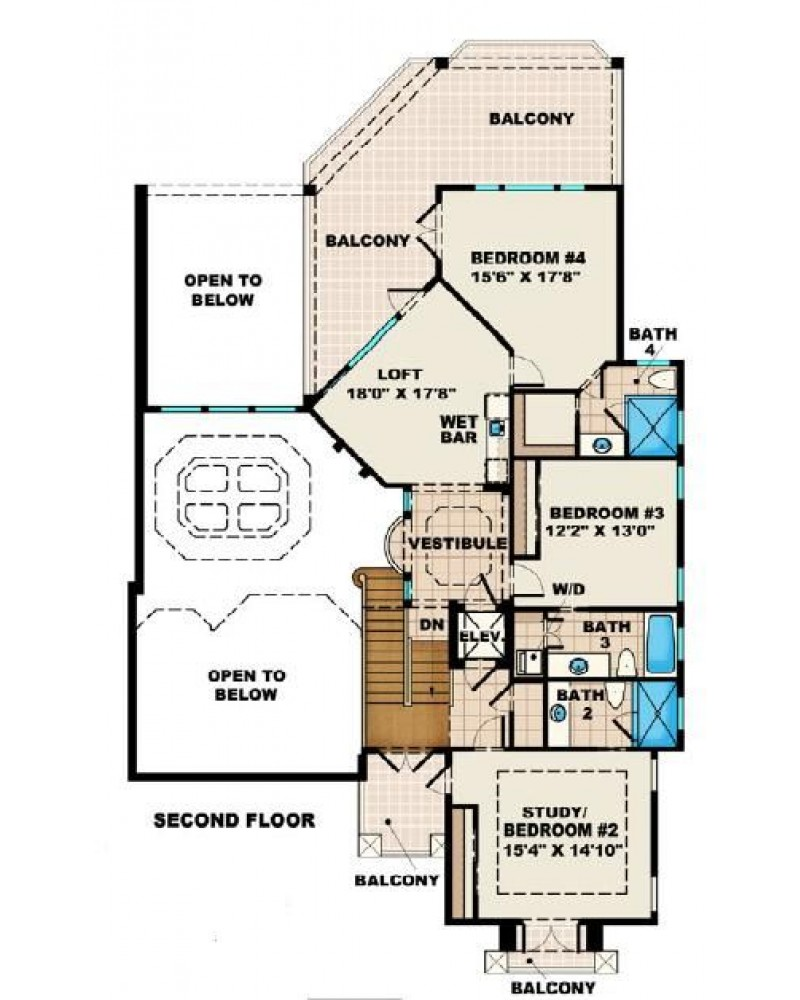 House Plan F2 4310 La Playa Iii Luxury