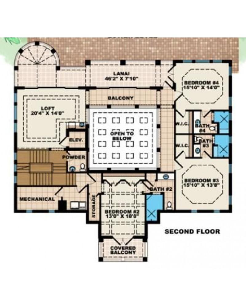 House Plan G4 6137 Casa Real Nueva