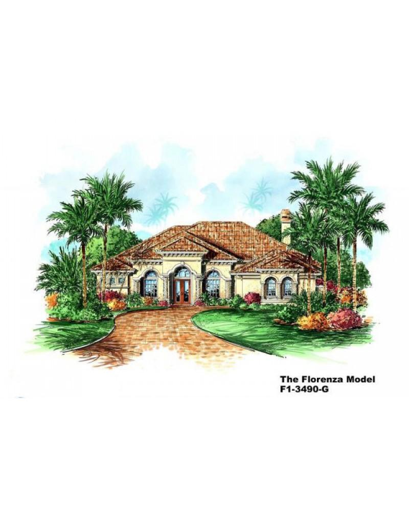 Award Winning Mediterranean House Plans: AmazingPlans.com House Plan #GW-F1-3490-G
