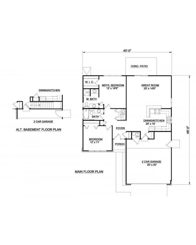 House Plan H 1006 Ranch