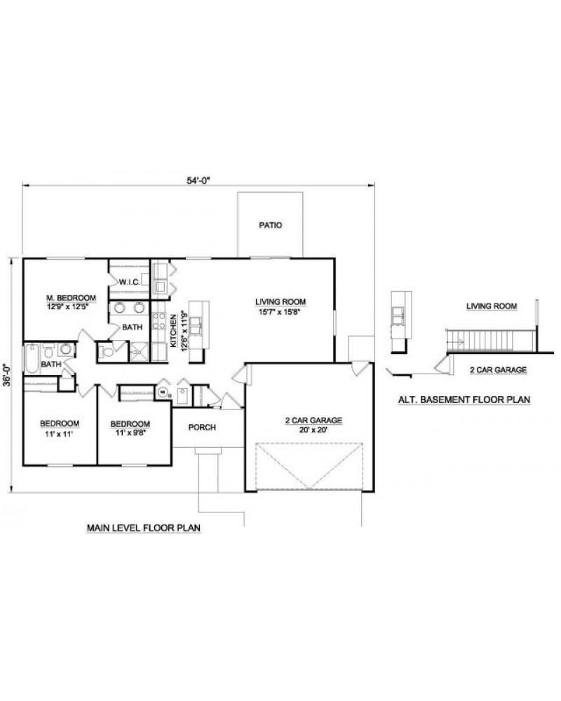 House Plan H 2017 Ranch