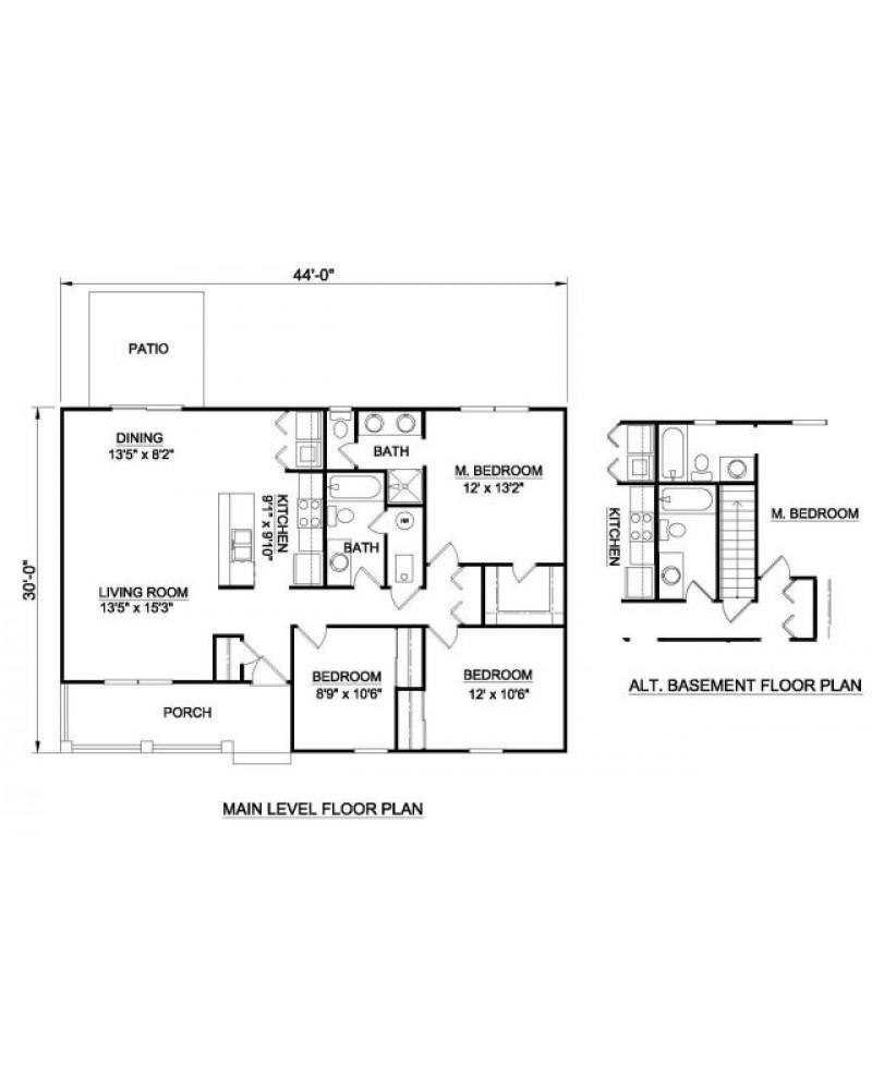 House Plan H 2020 Ranch