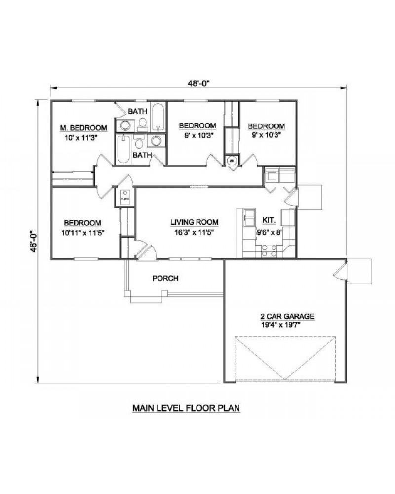 House Plan H 2022 Ranch