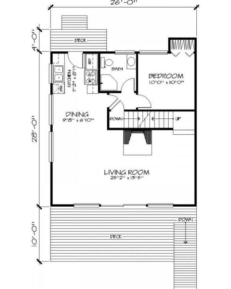 House Plan H 26 1 Cabin Vacation