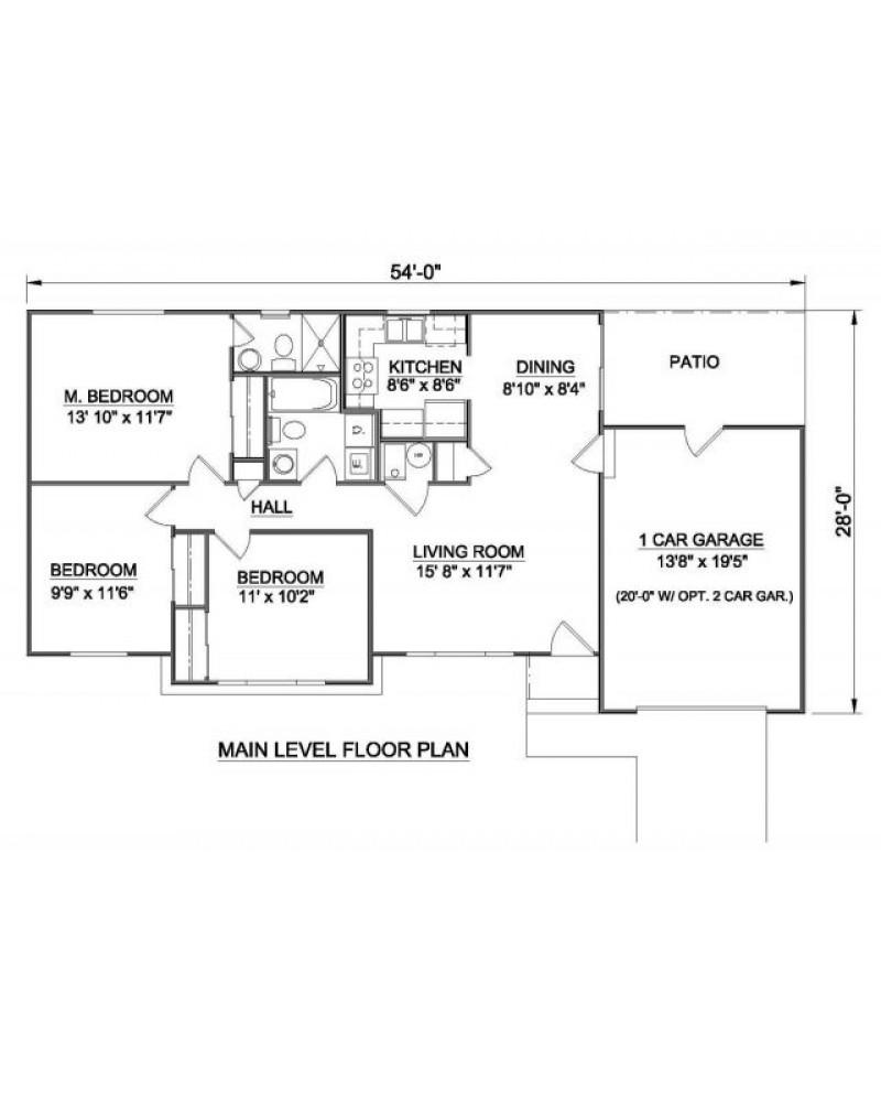 House Plan H 9002 Ranch