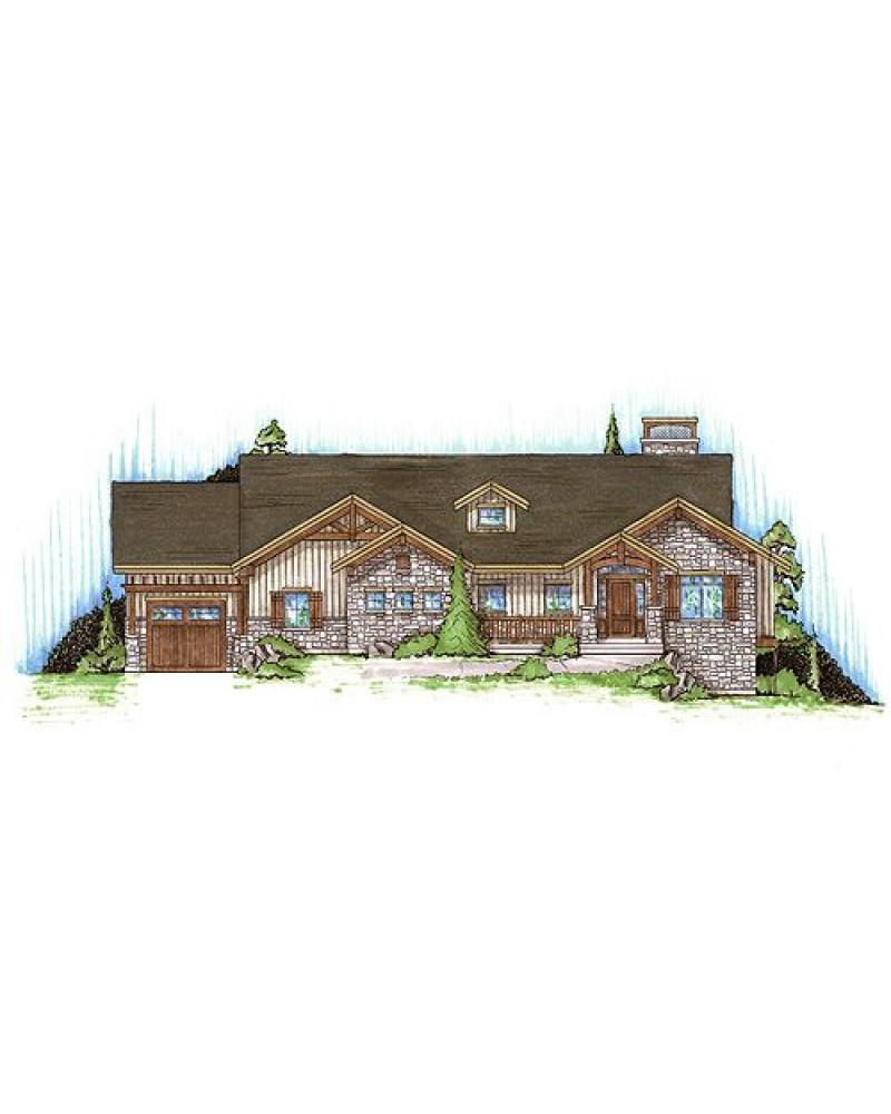 AmazingPlans House Plan HABR1761 Craftsman