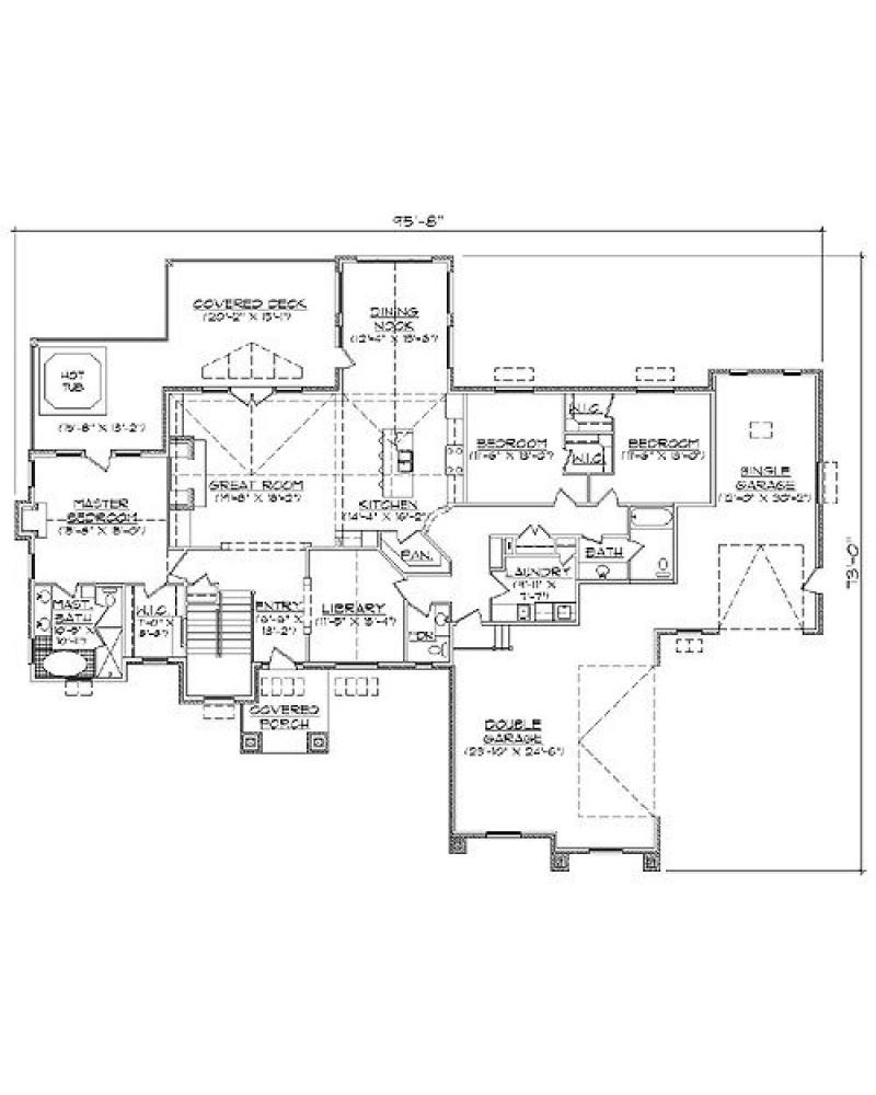House plan hab r2605 hillside craftsman for R2605