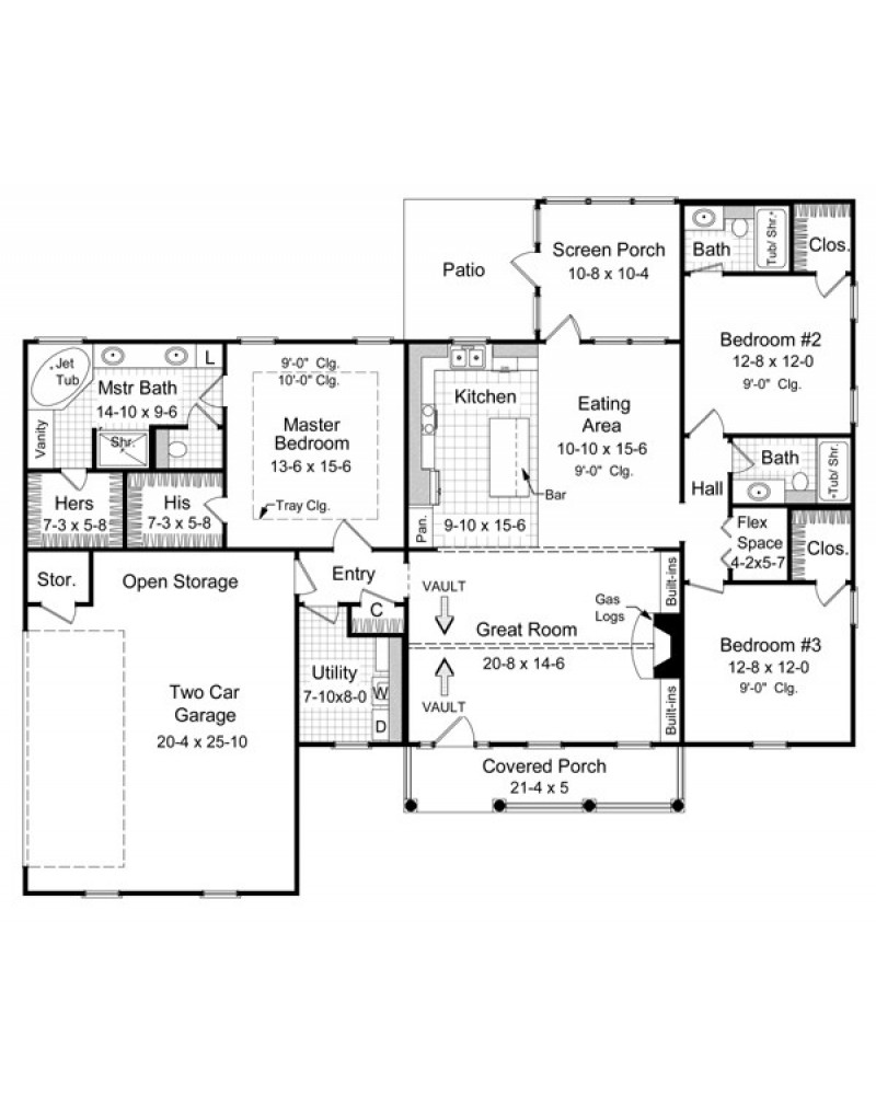 House plan hpg 1800 4 southern for 1800s house plans