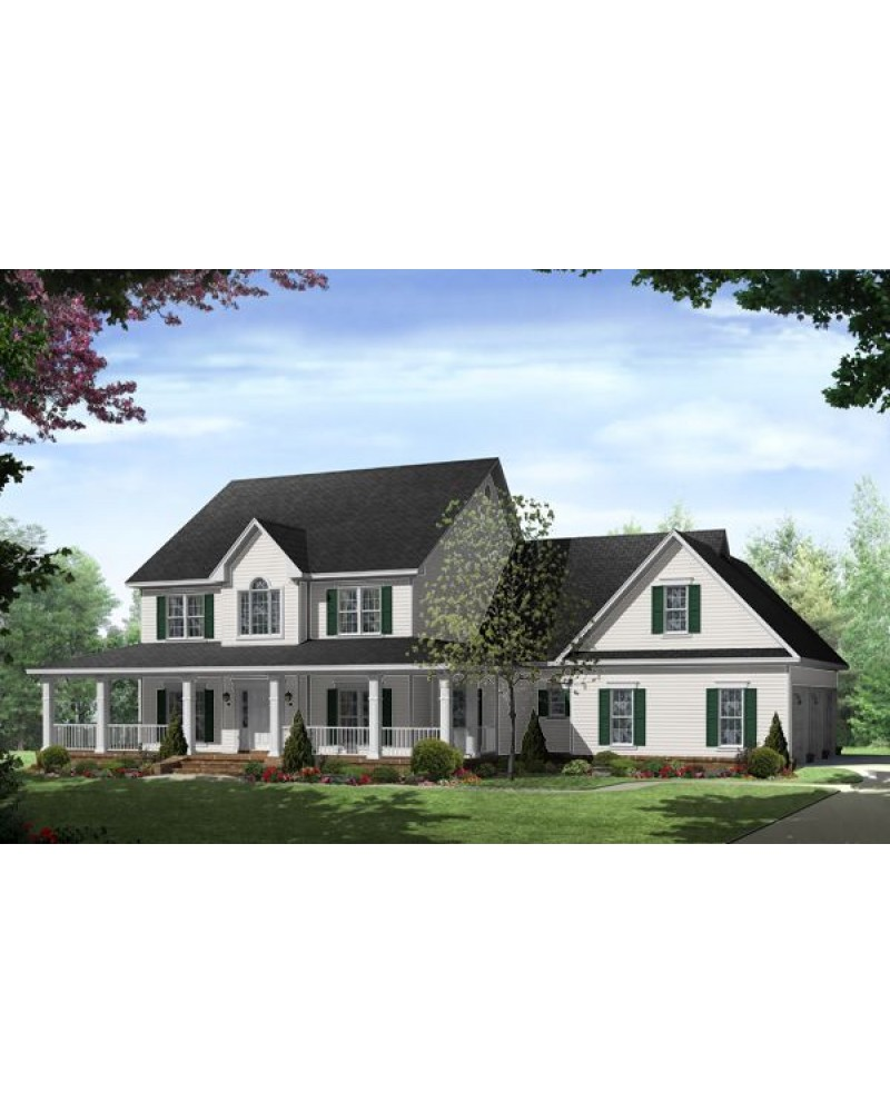 House plan hpg 3000 2 country for Traditional farmhouse floor plans