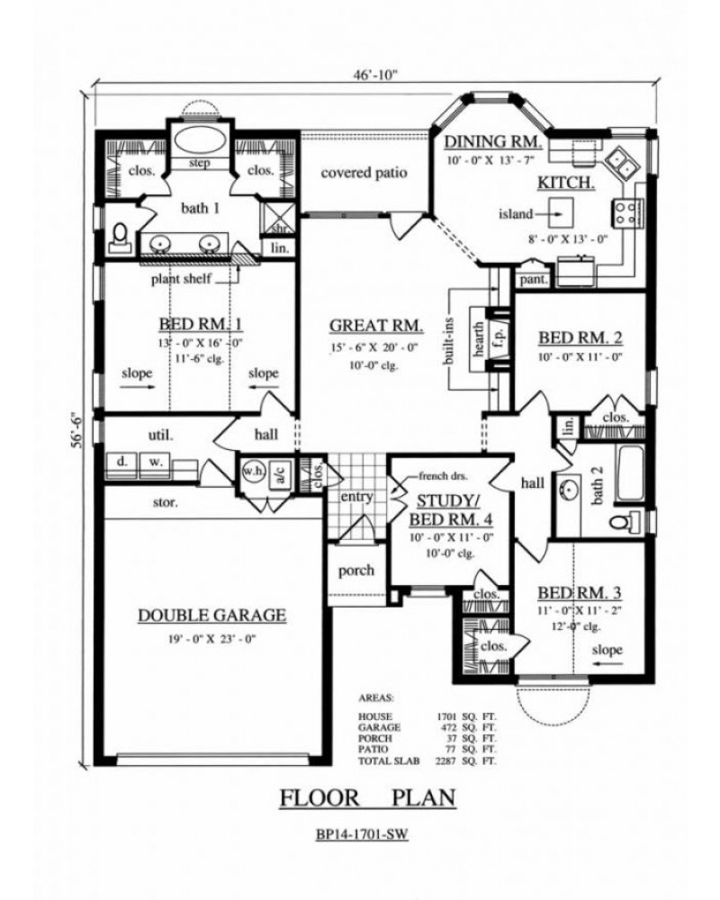 house plan kdbp14 1701 sw traditional
