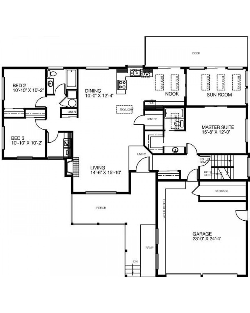 House plan l332 221 contemporary for 221 armstrong floor plans