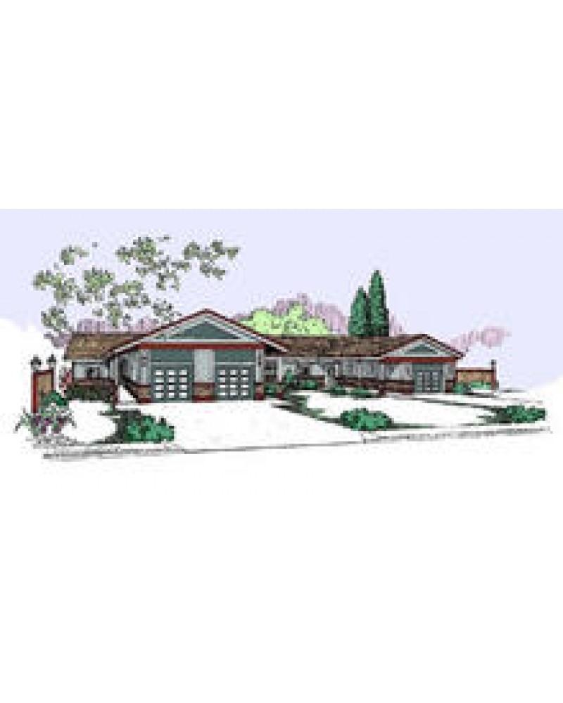 AmazingPlans.com Multi-Plex Plan #L407-13 Triplex - Contemporary ...