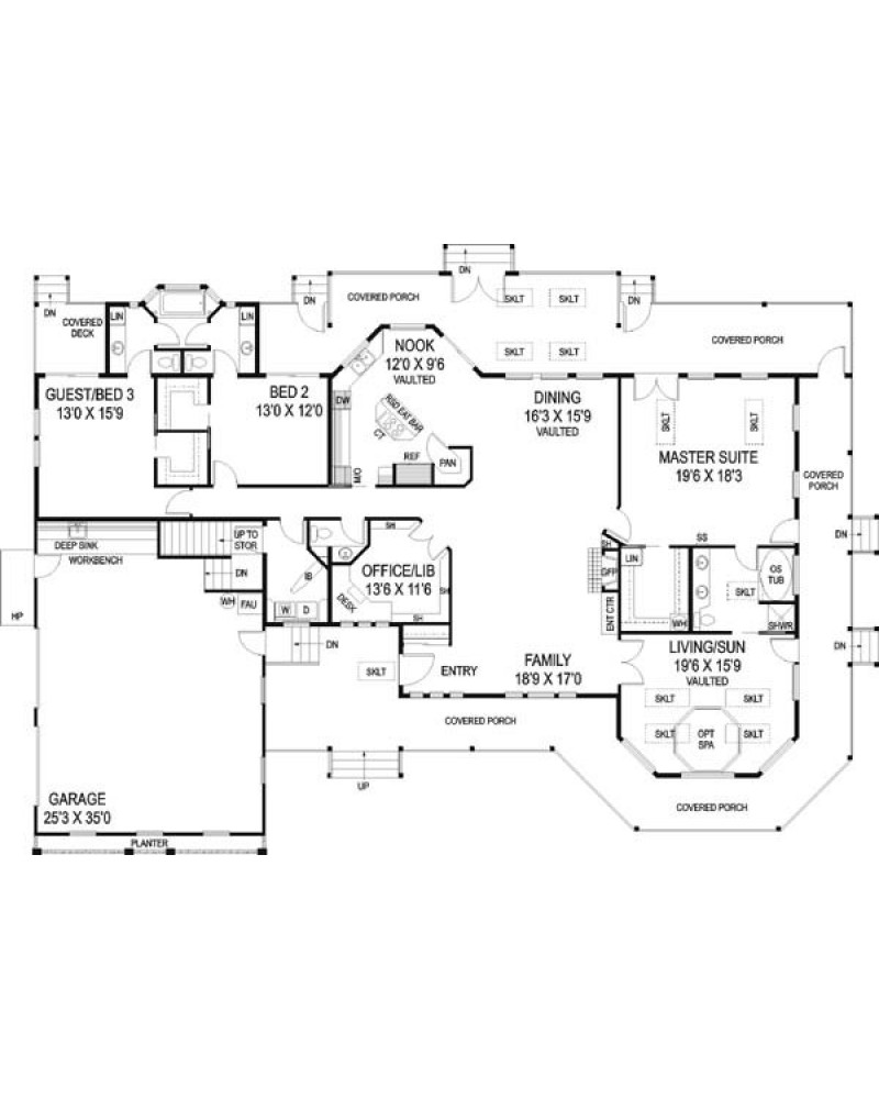 House plan l501 09 country farmhouse for 501 plan
