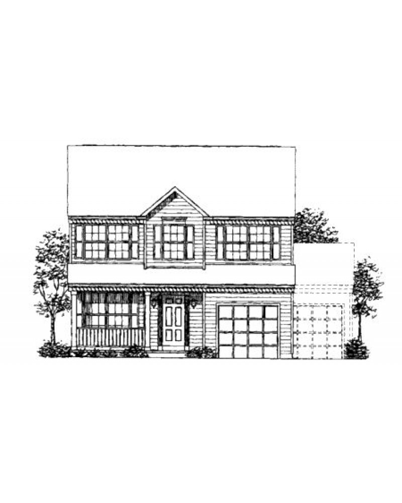 House Plan Ls 96805 Ms Colonial