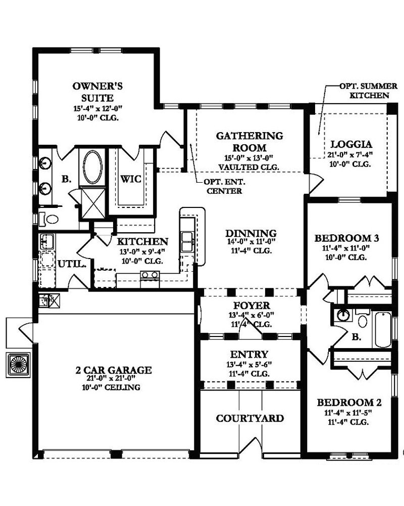 House plan kee p06 01532 048a spanish for Kitchen design 01532