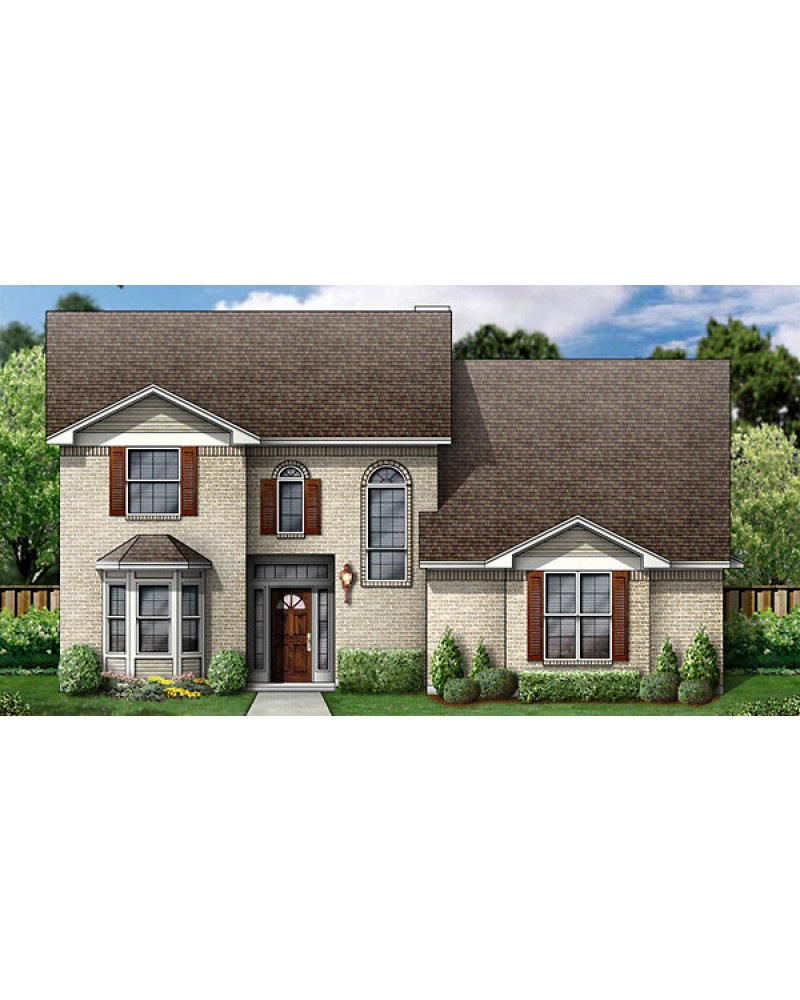 House Plan Pd2519br5 130 Colonial