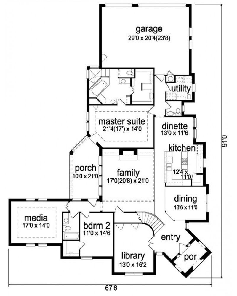 Pd3469 44 on rear entry garage house plans