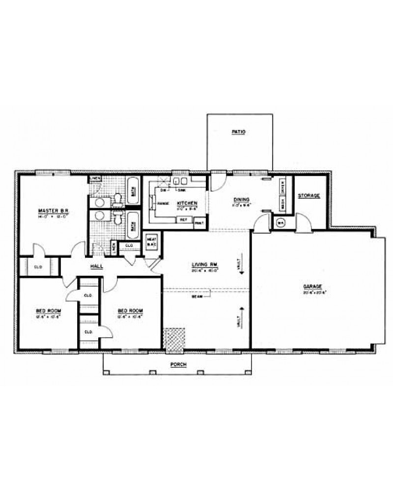 House plan ph12 000 100 for Floor plans for 160 000