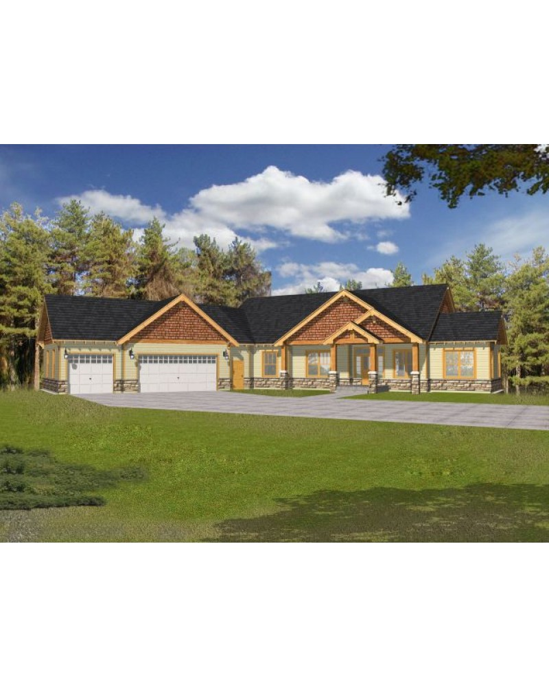 House plan rdi 2500r1 db ranch craftsman for Db ranch