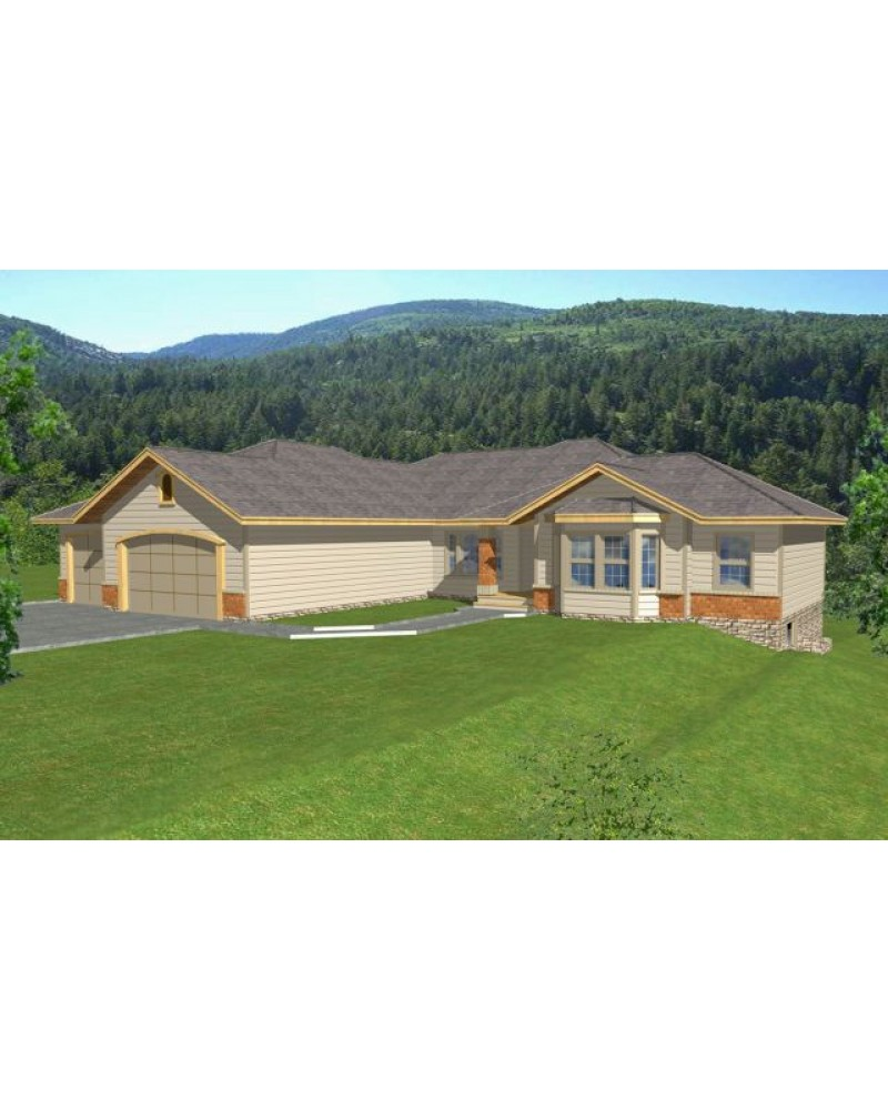 House plan rdi 2583r1 db contemporary for Db ranch