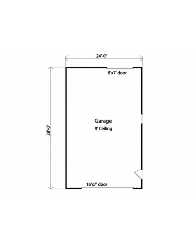 Garage plan rds 2718 for Easy entry cart plans