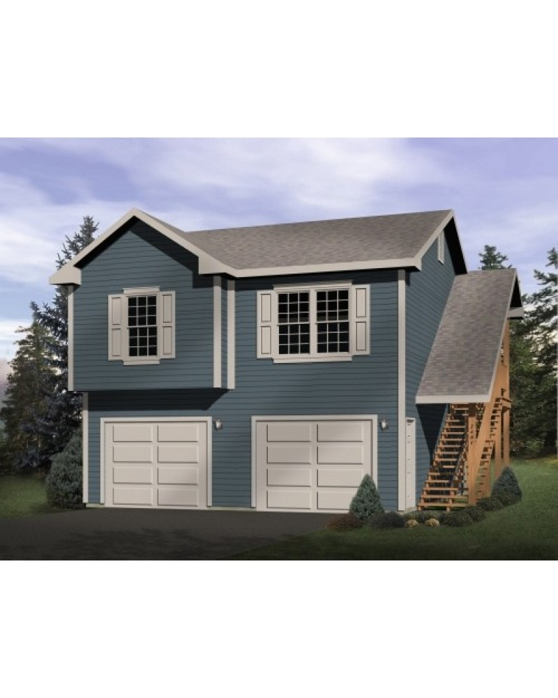 Garage plan rds2401 garage apartment for 1 5 car garage